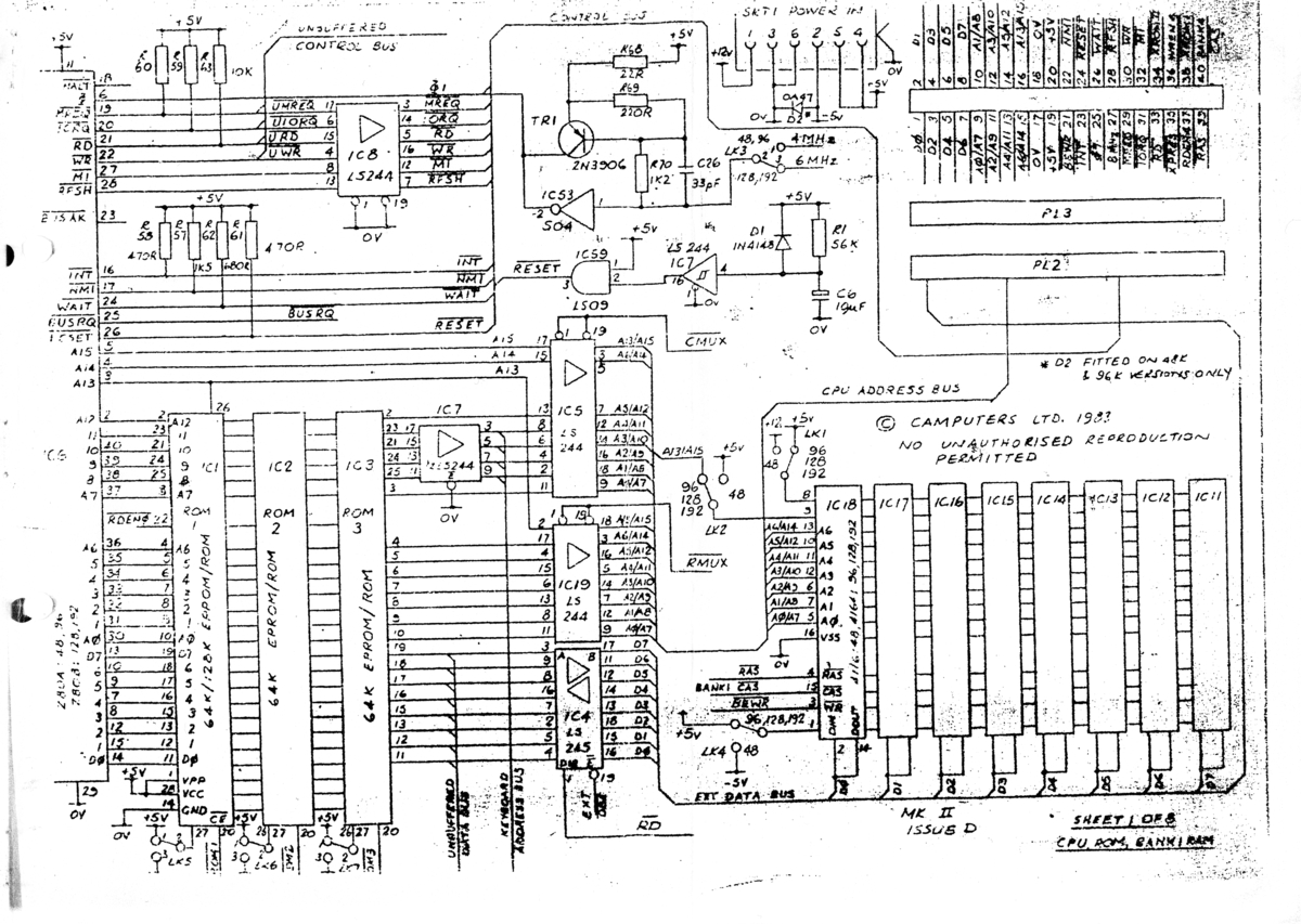 Index Of Camputerslynx Files Schematics Circuit Lynx 128k Motherboard Diagram Page 1 8 1200 Pixels